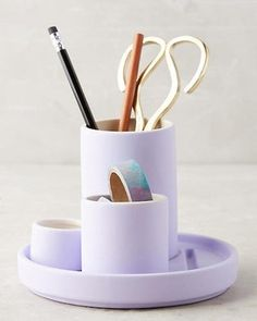 Shop unique desk decor and supplies or cute desk accessories at Anthropologie. Office accessories are a perfect gift for you or a loved one! Home Office, Office Decor, Office Ideas, Corner Office, Desk Ideas, Office Spaces, Office Chairs, Office Furniture, Pencil Holders For Desk