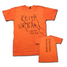 #KeithUrban - Light The Fuse Tour Orange Tee