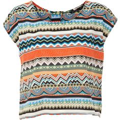 Miso Aztec T-Shirt found on Polyvore