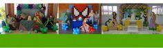 Página Vitrine com Galeria de Fotos, Contato, Descrição  e Indicações da empresa Locação de decoração de festas e balões