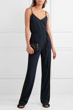 dc8d037d984 rag   bone - Rosa two-tone silk-crepe jumpsuit