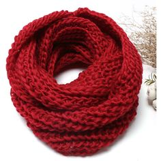 Yoins Red Cosy Knitted Infinity scarf (€9,70) ❤ liked on Polyvore featuring accessories, scarves, red, loop scarf, red scarves, knit scarves, tube scarves and red infinity scarves