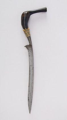 Knife (Bade-bade). Date: 16th–19th century. Geography: Aceh, Sumatra. Culture: Sumatran, Acheen. Medium: Horn, gold.