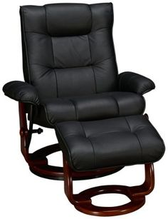 Benchmaster--Benchmaster Leather Chair And Ottoman - Jordan's Furniture