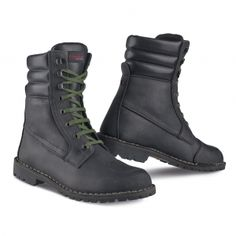 motorcycle boots urban in full grain leather vibram sole