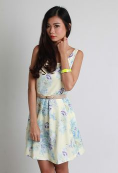Look pure and fresh in this ultra lovely dress with pretty floral blooms. Charm your date with this enchanting number! From LaceAndButtons.com