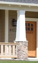 1000 images about outdoor house ideas on pinterest for Tapered craftsman porch columns