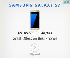 Ads shows rs.1 discount as great.. rofl xD