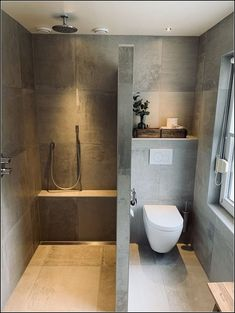 Bathroom completely modern concrete look sources and sanitary ba .-Badezimmer komplett modern Betonoptik Quellen und Sanitär badkam Bathroom completely modern concrete look sources and sanitary badkam # concrete look # tiles -