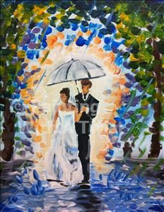 Wedding Stroll - Painting with a Twist Great twist On the Umbrella trend! Look it would make a great shower day!