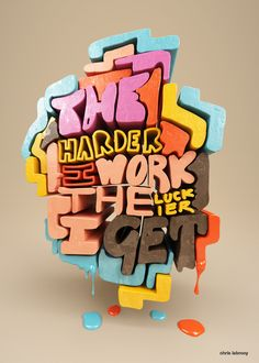 Quotation experiments by Chris LaBrooy, via Behance #design #type #lettering