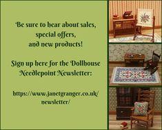 Dollhouse tray cloth kit Cottage petit point traycloth 1:12
