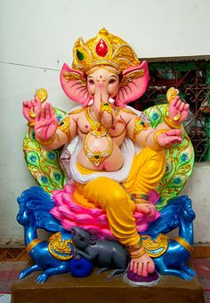 View top-quality stock photos of Ganesha. Find premium, high-resolution stock photography at Getty Images. Photos Of Ganesha, Shri Ganesh Images, Ganesha Pictures, Lord Ganesha Paintings, Ganesha Art, Ganesh Idol, Ganesh Lord, Sri Ganesh, Decoration For Ganpati