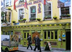 Dublin's Temple Bar district. I've been to this pub and it's great!