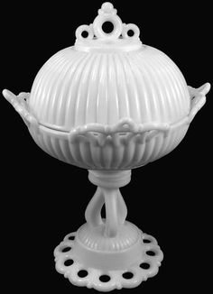 Westmoreland Doric pattern footed compote  I have 2 of the bases, they are also candle holders!