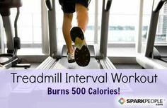 Ban treadmill boredom and torch 500 calories with this fun interval workout! Doesnt go over 4mph either, perfect!