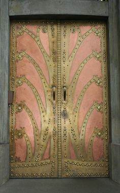 Art Nouveau Door at Goethe Institute, Prague, Czech Republic - @~ Watsonette