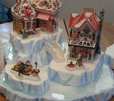 North Pole Iceberg display set by 56th and Main, via Flickr