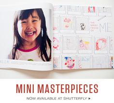 Great idea to preserve a child's art work over the years: Scan them in and include them as part of a digital photo book (via Paislee Press).