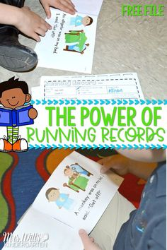 Running Records Assessment examples and free file! Learn how to complete the running record assessment form. Learn why running records help you analyze readers and help you learn what to teach next. FREE printable file is included. Guided Reading Lessons, Guided Reading Groups, Student Reading, Reading Resources, Primary Resources, Kindergarten Freebies, Kindergarten Activities, Running Records, Just Right Books