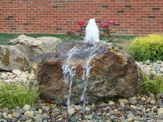 Can I have a bubbling boulder too? Can I have a bubbling boulder too? The post Can I have a bubbling boulder too? appeared first on Garden Diy. Stone Water Features, Outdoor Water Features, Water Features In The Garden, Landscaping With Rocks, Garden Landscaping, Garden Pond, Rock Fountain, Garden Water Fountains, Water Gardens