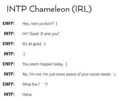 Might be INTP but ...yeah I do this too.