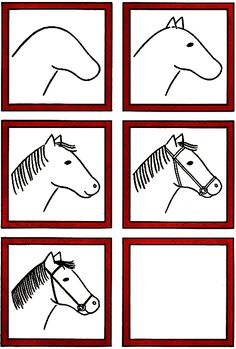 free horse unit study resources simple doodles drawingskid - Easy Drawing Pictures For Kids