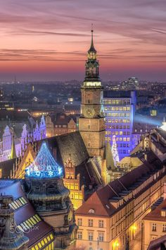 Wrocław by night, Poland. The business activities that require special permits in Poland are presented in our comprehensive article. Cool Places To Visit, Places To Travel, Places To Go, Where Is Poland, The Beautiful Country, Beautiful Places, Visit Poland, Poland Travel, Worldwide Travel