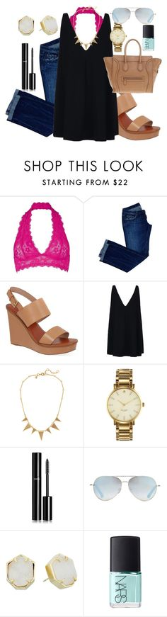 """""""you deserve a forever not a boy looking for better"""" by classically-kendall ❤ liked on Polyvore featuring Free People, Dsquared2, Tory Burch, STELLA McCARTNEY, J.Crew, Kate Spade, Chanel, Linda Farrow, Kendra Scott and NARS Cosmetics"""