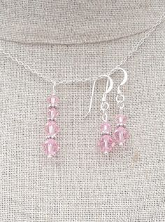A personal favourite from my Etsy shop https://www.etsy.com/uk/listing/294936237/pink-swarovoski-crystal-earring-and