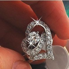 Aliexpress.com : Buy Min.order 6pcs/lot Rhinestone Promise Rings Couples Love Heart Ring for woman Jewelry Wholesale Free shipping HS B0093 from Reliable Rings suppliers on Hopenhagen store