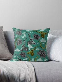 'Kudu & Succulent with watercolour splashes' Throw Pillow by Amanda D-Hay Sell Your Art, Redbubble, Pillows, Pillow Design, Throw Pillows, Home Decor, Splash