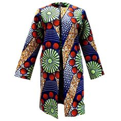 awesome Tari African Print Jacket (Blue/Green/Red)