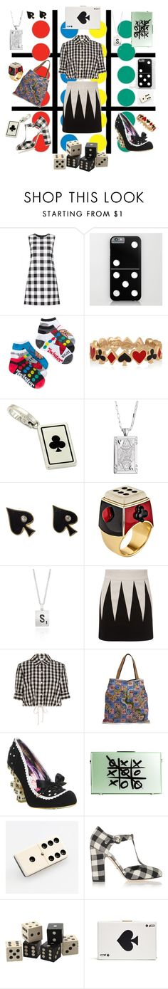 """""""Don't Play Games With Me!"""" by littlesaraha ❤ liked on Polyvore featuring Dolce&Gabbana, Planet Sox, Hasbro, Alison Lou, Cartier, Sho, Solange Azagury-Partridge, Belk & Co., FAUSTO PUGLISI and Solid & Striped"""