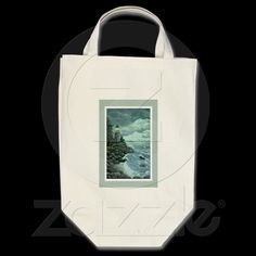 [Ave Hurley] - 'Jerry's Lighthouse' - Canvas Grocery Bag from Zazzle.com $16.85