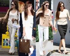 Angelina still keeps a great chic and cool street fashion look.