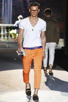 orange. v-neck.