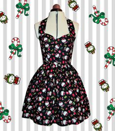 Christmas Hello Kitty dress festive kawaii by Cyanidekissx on Etsy