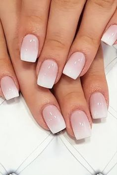 45 Unique Design Ideas to Make Ombre Nails For Your Summer - PameLa Homepages Square Nail Designs, Ombre Nail Designs, Acrylic Nail Designs, Nail Art Designs, Ombre Nail Colors, Nails Design, Blue Nail, Pink Nails, Stars Nails