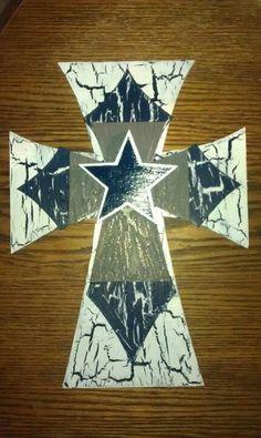Dallas Cowboys cross  find me on facebook Jordans crafts n more