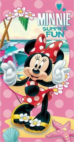 Minnie's ready for summer fun Mickey Mouse Images, Mickey Mouse Cartoon, Mickey Mouse And Friends, Mickey Minnie Mouse, Mickey Mouse Wallpaper Iphone, Disney Wallpaper, Disney Cartoon Characters, Disney Cartoons, Disney Frames