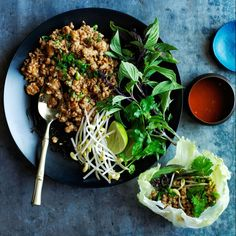 Thai Chicken Lettuce Wraps - we all LOVED this dish!!  (Just skip the sugar to make it #whole30 ... it didn't diminish the flavor at all!)