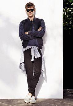 Danish Model Mathias Lauridsen for H.E. by Mango Spring Summer 2014