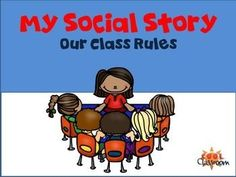 My Social Story - Class Rules Personalised for students with Autism.Social story with spaces for you to put your own photographic or line pictures of the behaviour written. Can be tailored for a specific child and personalised.