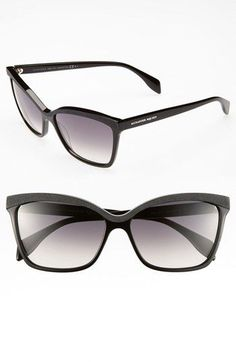 ce992e035207 Alexander McQueen 58mm 'Retro' Sunglasses (Online Only) available at # Nordstrom #