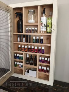 Essential Oil Rack Essential Oil Display by ChippedWithCharm