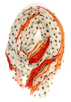Date at the Diner Scarf: White - $14.99 : Spotted Moth, Chic and sweet clothing and accessories for women