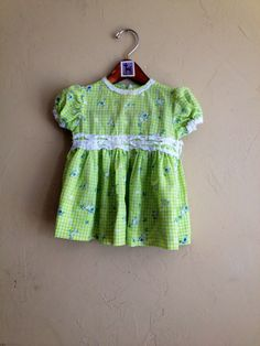 Vintage Handmade Owl Print Dress 18m