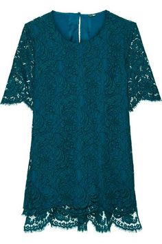 ADAM LIPPES Corded Cotton-Blend Lace Top. #adamlippes #cloth #tops