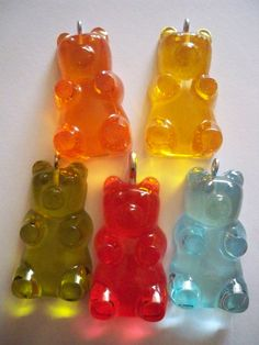 Gummy Bears Resin Pendant Resin Necklace by LafayetteStGeorge, $11.50
